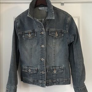 Chico's Platinum Premium Denim Jacket M/8